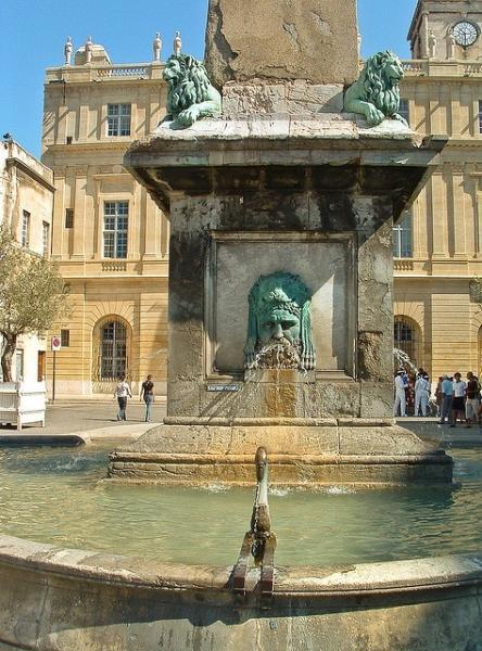 Fountain in Place de la Republique
