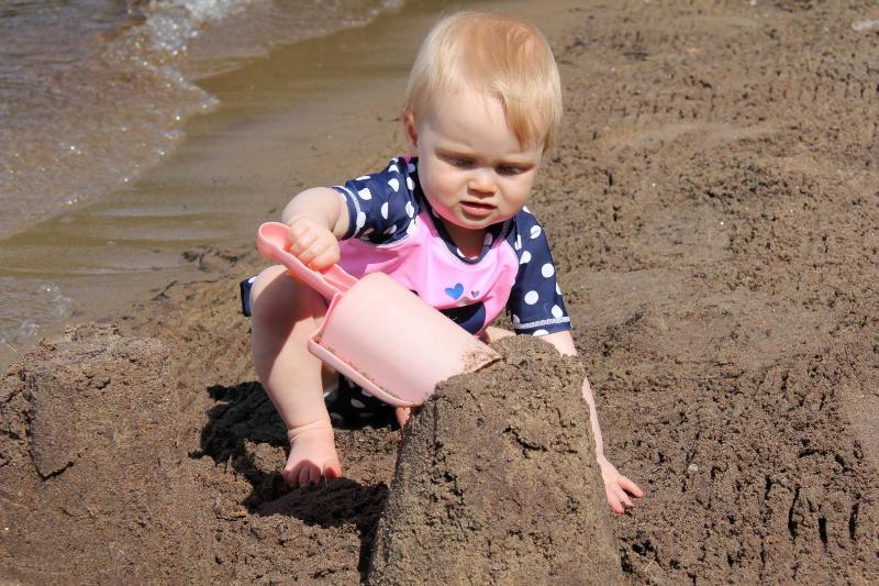 Clyffe House: Making sandcastles on our sandy beach