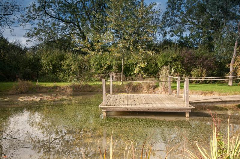 The pond jetty