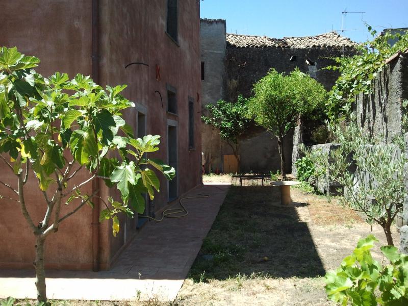 cortile interno dell'abitazione