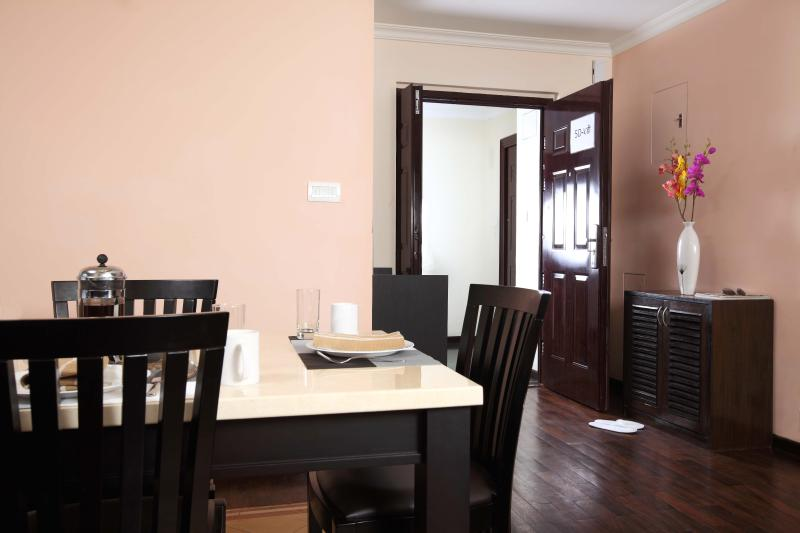 Breakfast setup in Dining table, Deluxe apartment