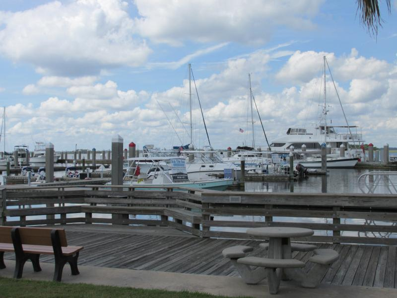Enjoy walking around the downtown boat dock or take a ride with Amelia River cruise
