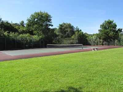 Our tennis court and open yard area