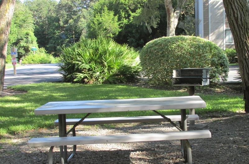 There are several grilling areas throughout Amelia Landings