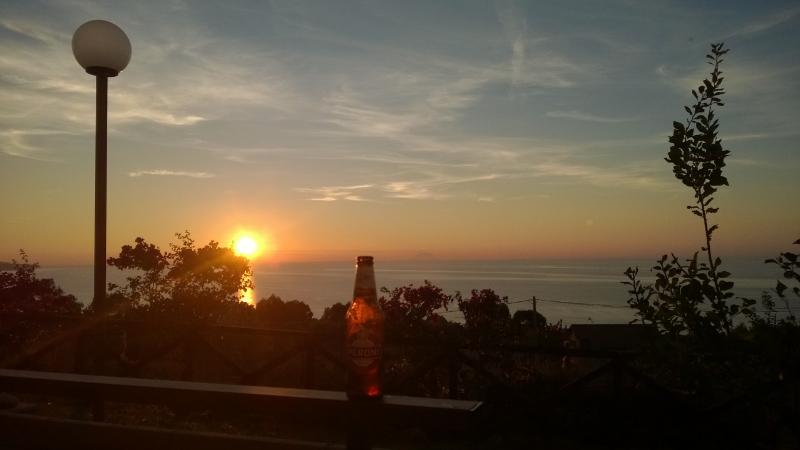 Another favourite pastime on the terrace - watching the sun set