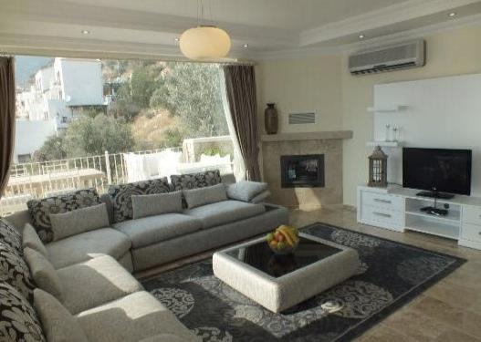 Comfortable lounge area with great window views