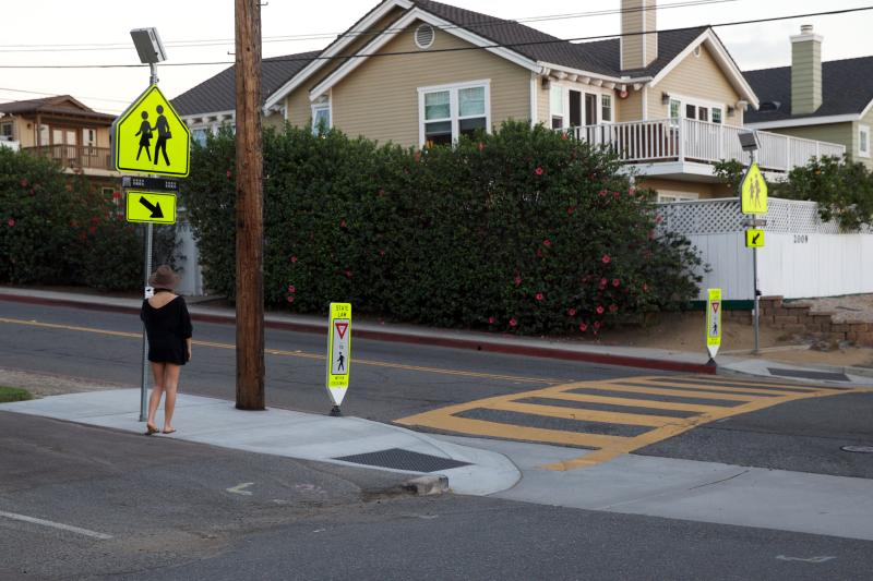 Its very pedestrian friendly with a dedicated cross-walk on our street.
