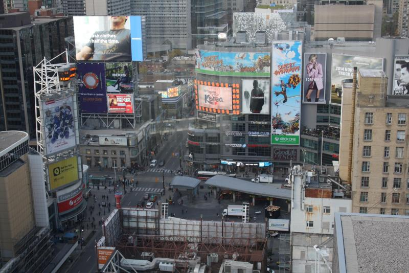 view to Dundas Square