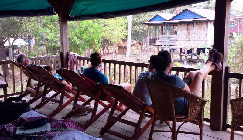Guest can relax & temple gaze from the balcony and our large open area.