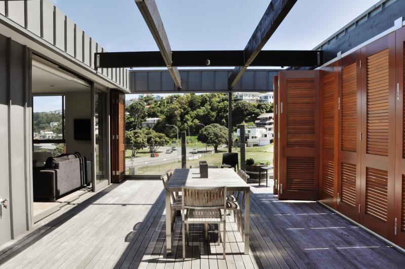 Entertainer's deck with expansive sea views