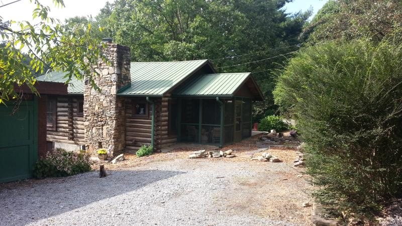 Exterior. Drive up to cabin.