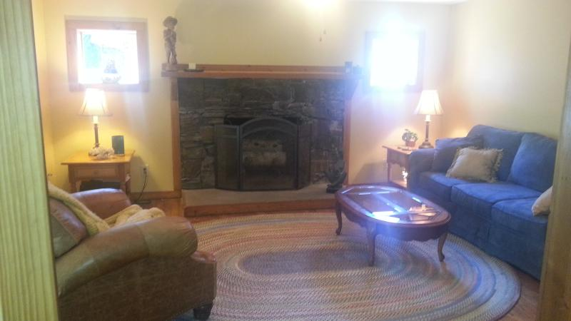 Living Room with working fireplace.