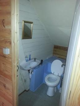 Upstairs sink and toilet