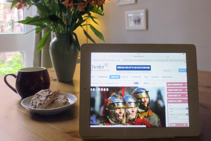 Guests can use the cottage Wi-Fi to plan sightseeing trips