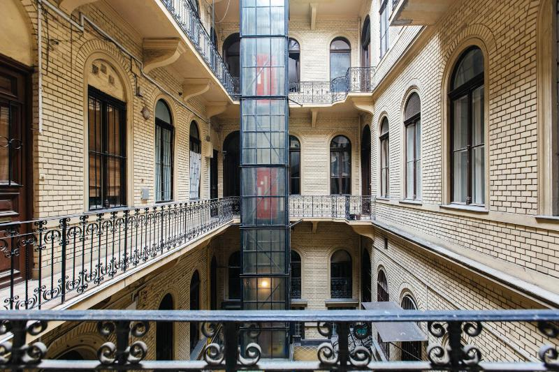 Interior courtyard with lift