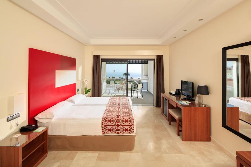 Deluxe bedroom with views to the Mediterrantean Sea