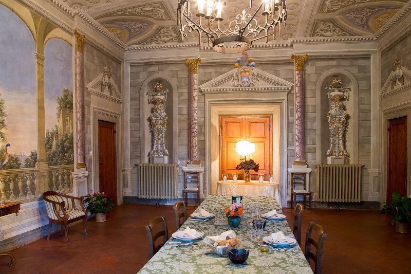 Dining room within main villa