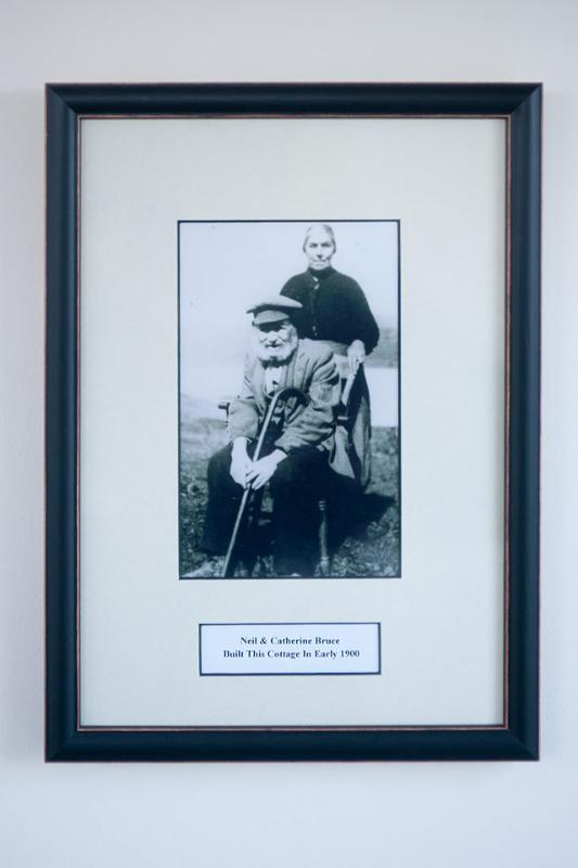 Photo of Mr & Mrs Bruce.  They Built the cottage