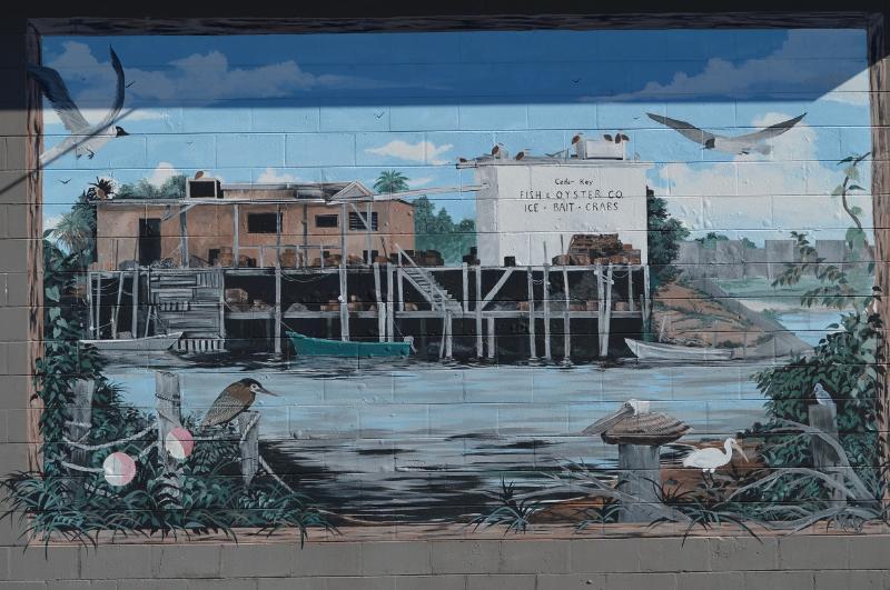 Schilderijen op gebouw