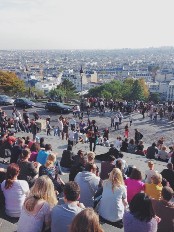 Blick über Paris von der Sacré-Coeur (10 min. zu Fuß vom Apartment)