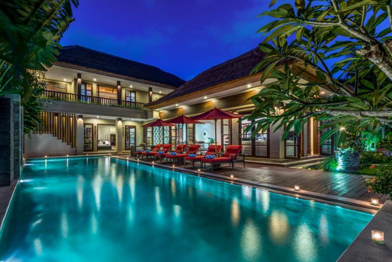 Villa Nilaya by Night