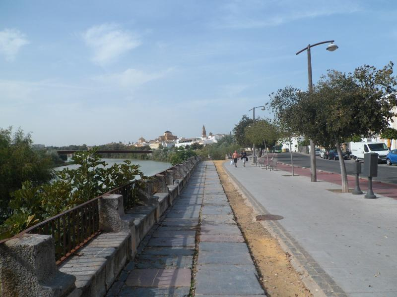 surroundings, Ribera, in the background the mosque and the Roman bridge