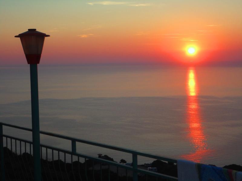 sunrise of balcony