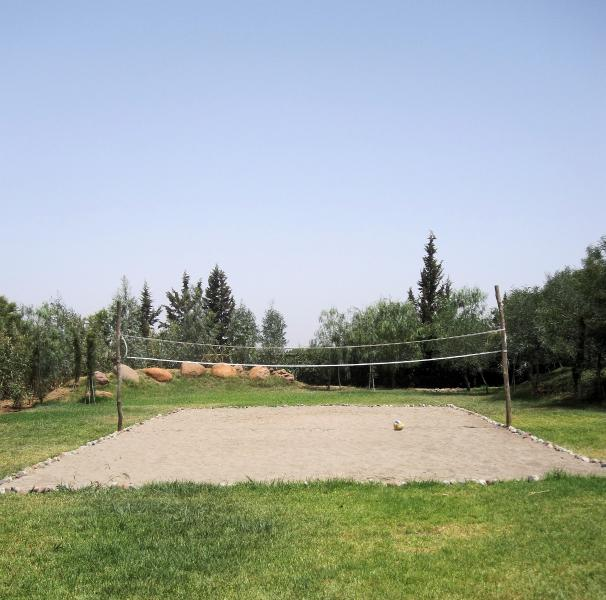 The Beach Volleyball pitch is exclusive to Dar Tigamino... We play Badminton here too.