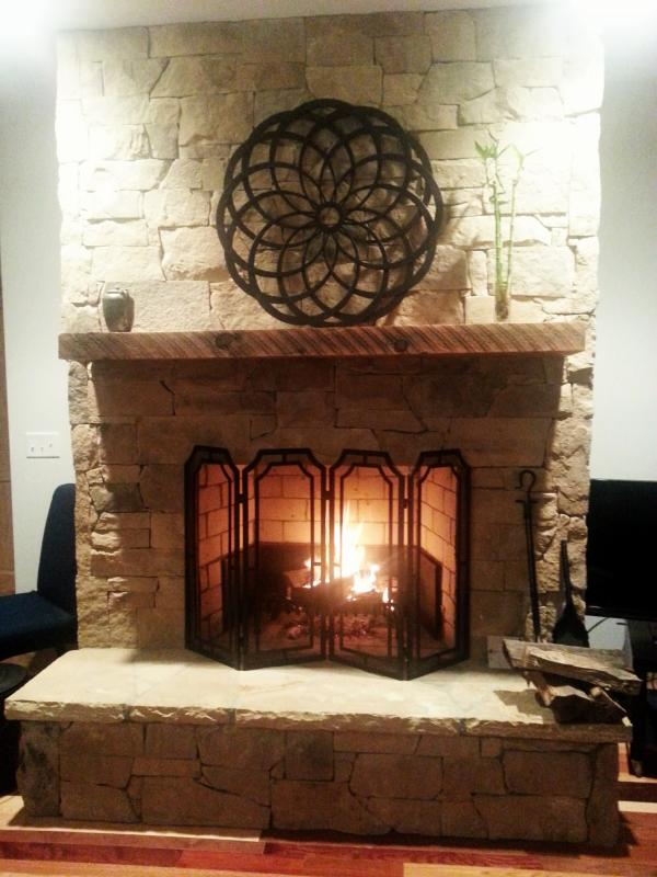 Real Stone Fireplace For Real Wood Fires