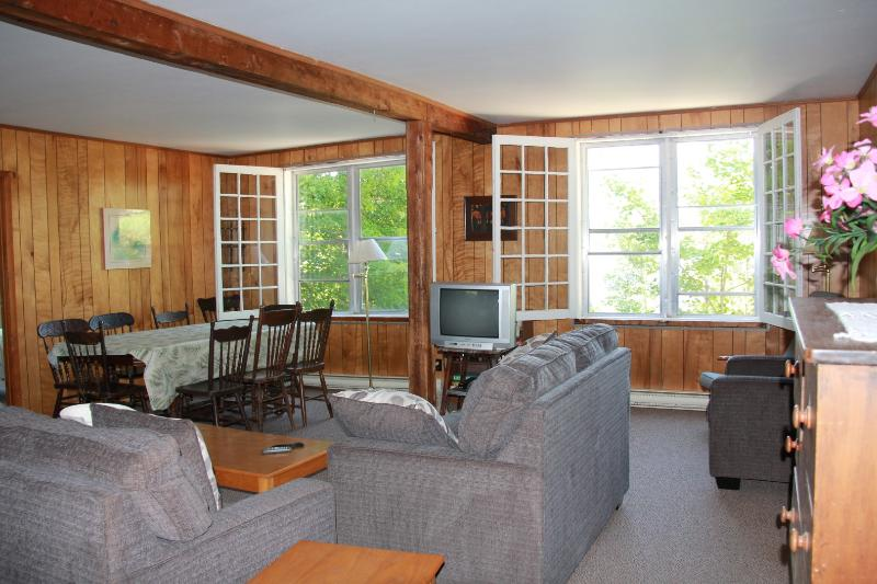 Azul Cottage Lowe: sala (vista para o lago tem)