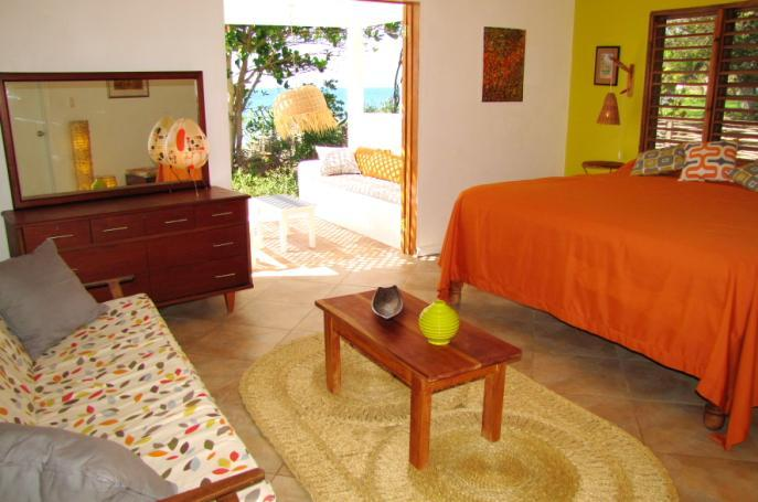 The sunset bedroom also has a 'secret' veranda, secluded with amazing sea views