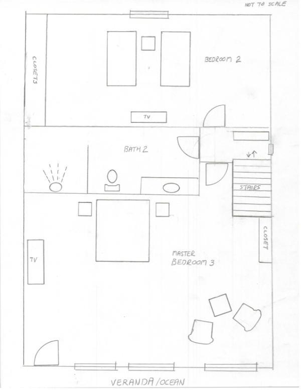Condo A6: Rough sketch of upper level