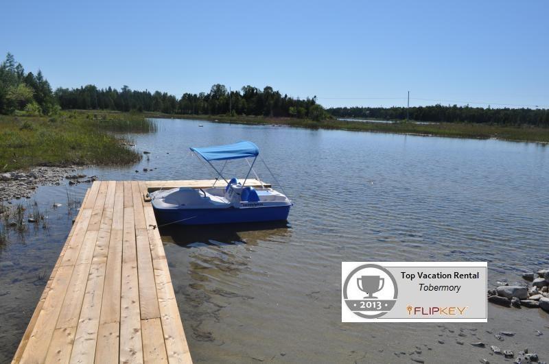 Dock at Back of Cottage on Dorcas Bay