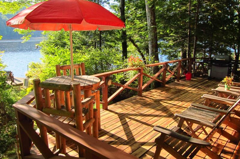Secluded, Lakeside, Split-log Cottage with Fireplace, Rowboat, holiday rental in Henniker