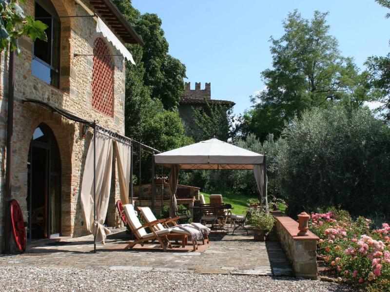 La casa de vacaciones y la terraza privada
