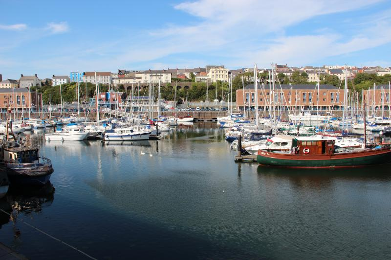 View of the Marina - With the town of Milford Haven in the distance.