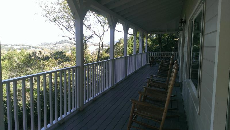 Spacious wrap around porch with gorgeous views!