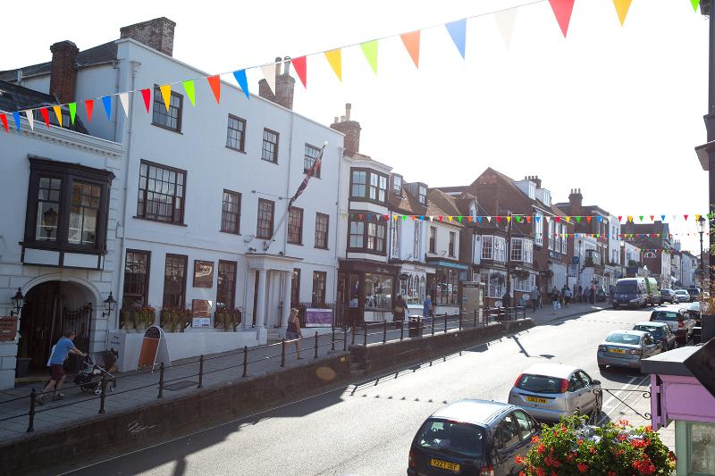 Lymington highstreet - view from apartment