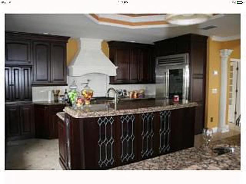 Kitchen with Wolfe and Subzero appliances and two granite Islands