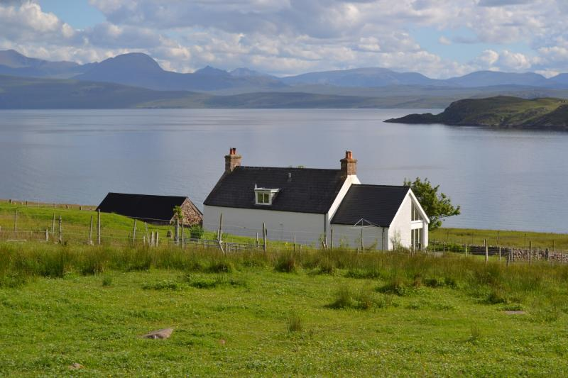 Diabaig cottage... and (part of) its stunning view!