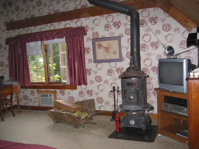 Wood Stove in Master bedroom