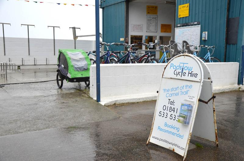 You can hire bikes to cycle the camel trail