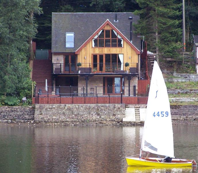 View of the house from Rudyard lake