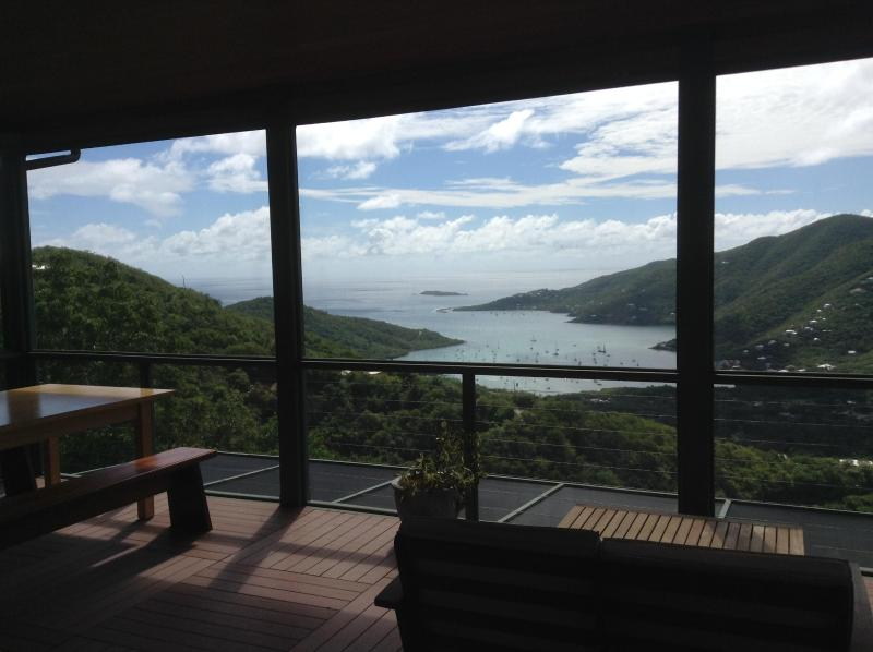 View from the dining room and lanai lounge area, full screened in