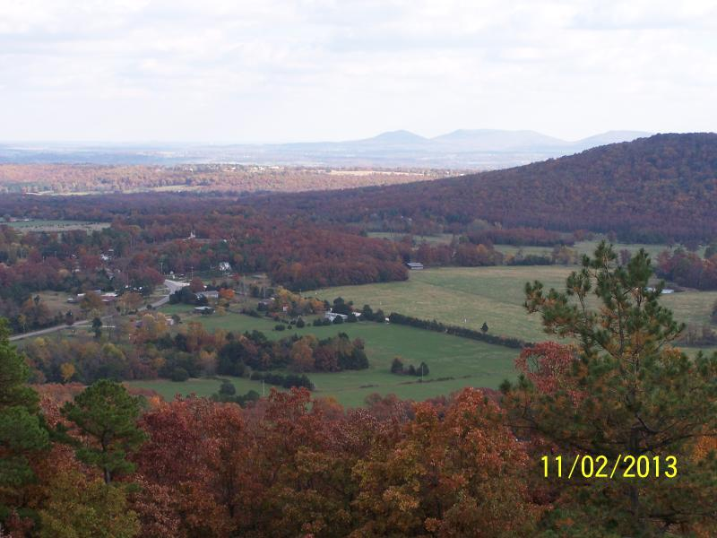 View from the deck overlooking the valley.