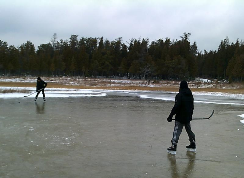Winter - Skating Behind The Cottage