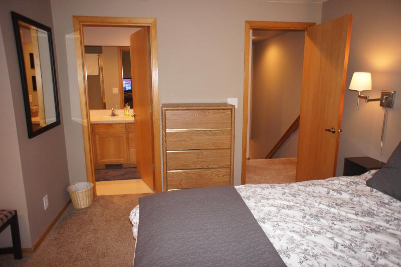 One of two master bedrooms