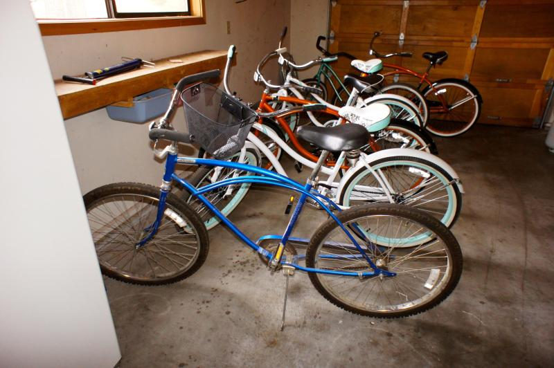 Eight complimentary bikes are included with our home