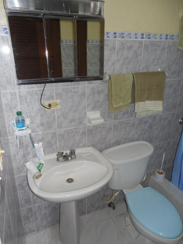 Bathroom with shower. All linens provided.