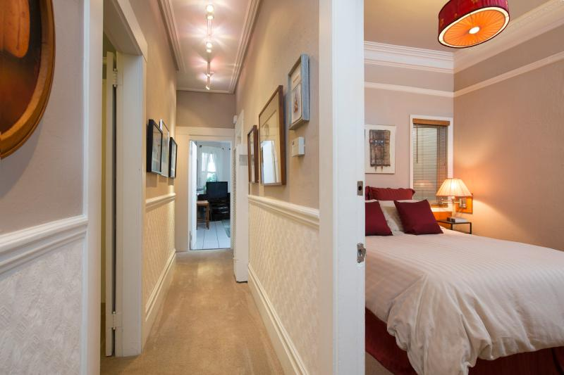 Hall from Entry/Living/Dining/Bedroom to Family Room, Kitchen and Garden. YourHomeInSanFrancisco